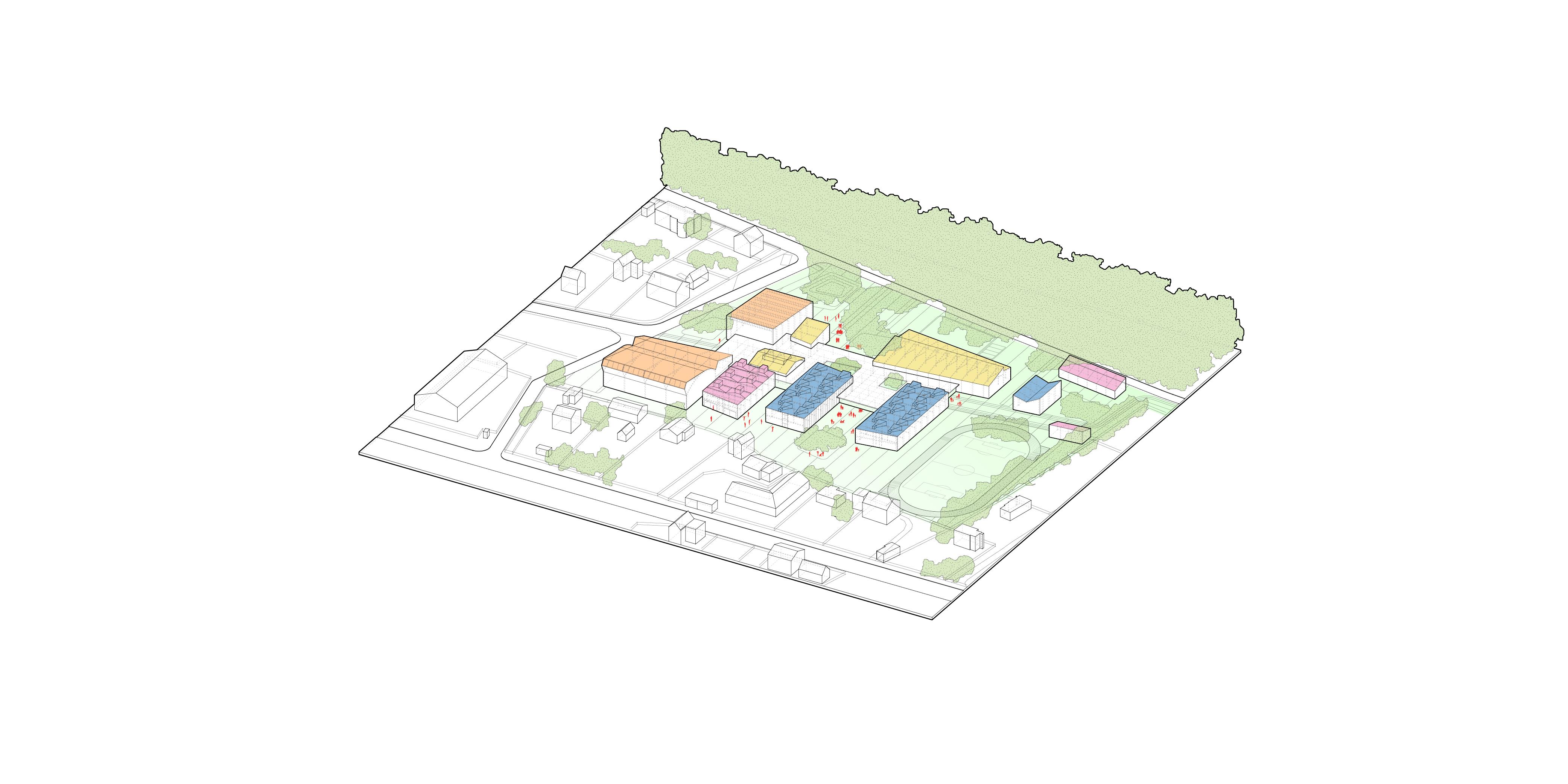 Volumetric diagram, Create roof top landscape