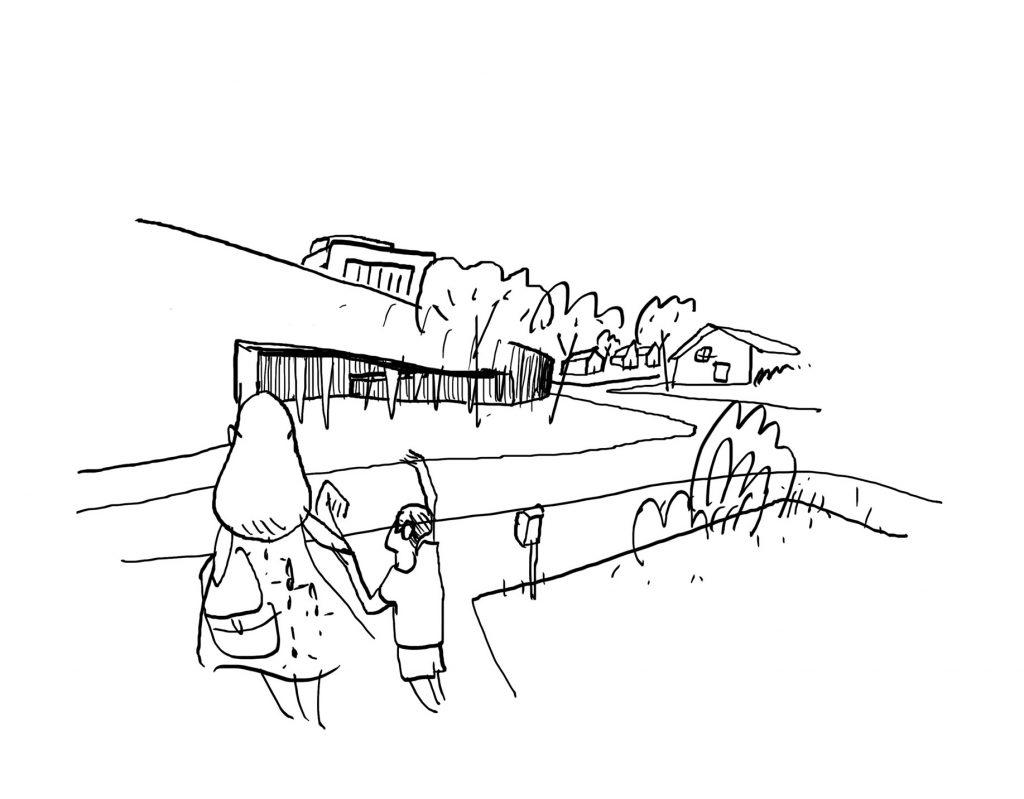 Dibujo acceso Design our Ryde, Hernan Lleida