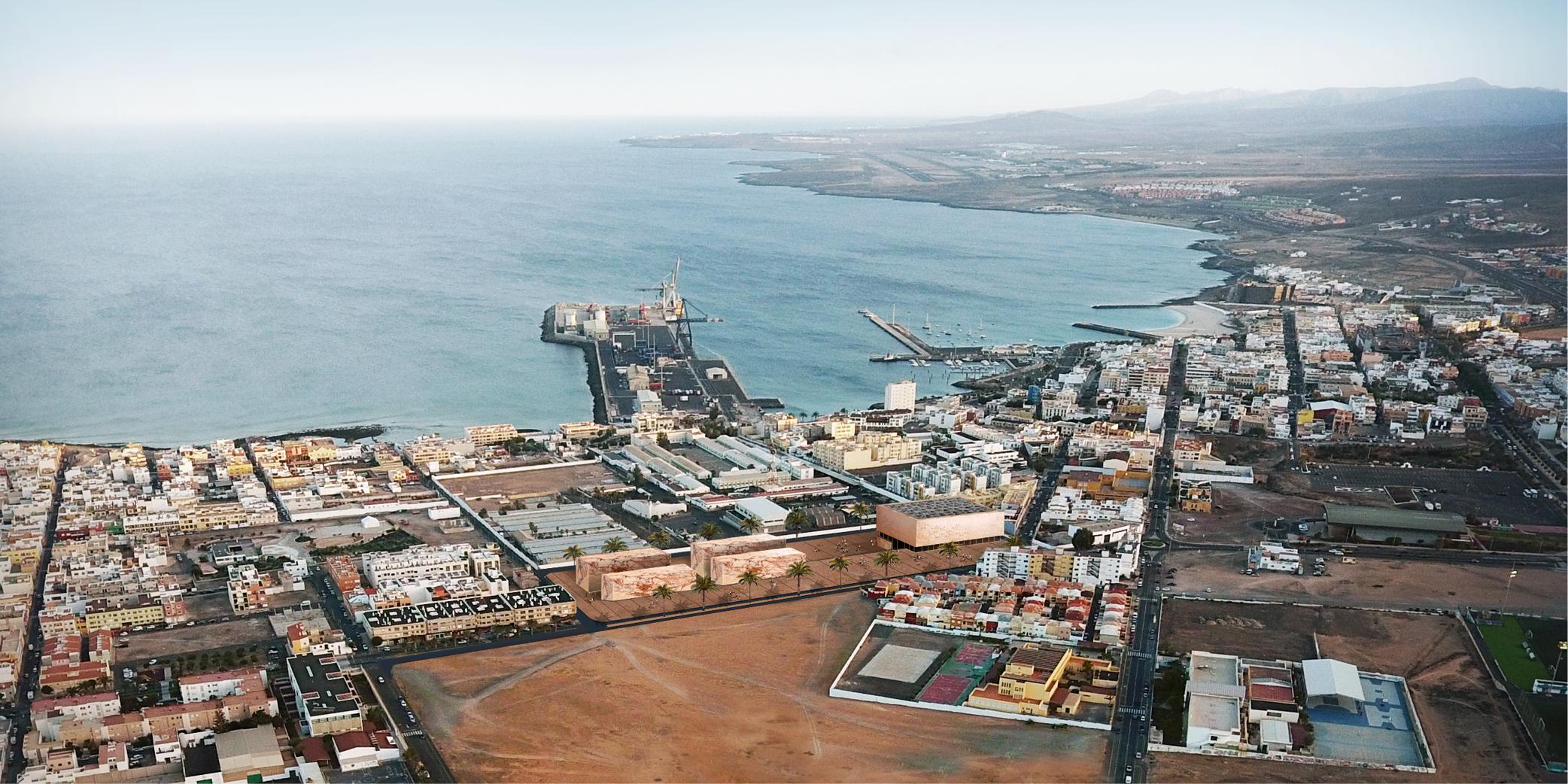 Aerial view of Puerto del Rosario