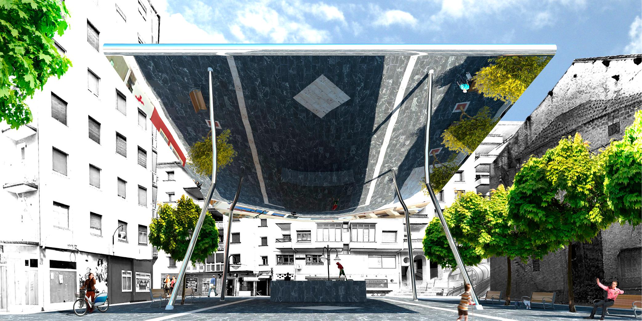 Cubrición plaza cardenal orbe OCA architects barcelona Hernan lleida Bernardo Garcia 02