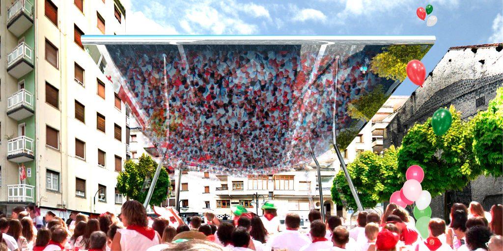 ISPILU MAGIKOA Cubrición plaza cardenal orbe OCA architects barcelona Hernan lleida Bernardo Garcia 01