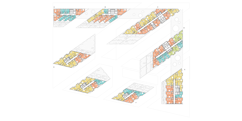 Typical level floor plan