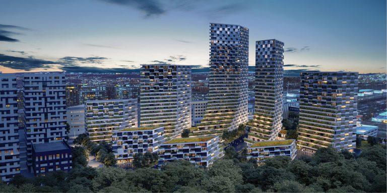 OCA architects Barcelona Prague House of Arboretum residential housing project Hernan Lleida Ruiz Bernardo Garcia Morales2
