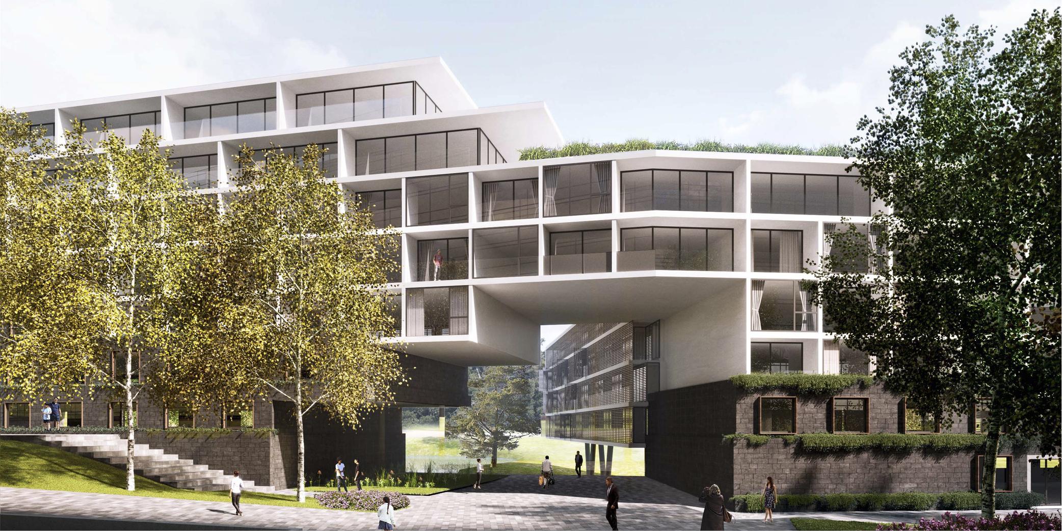 OCA architects Barcelona Prague House of Arboretum residential housing project Hernan Lleida Ruiz Bernardo Garcia Morales5