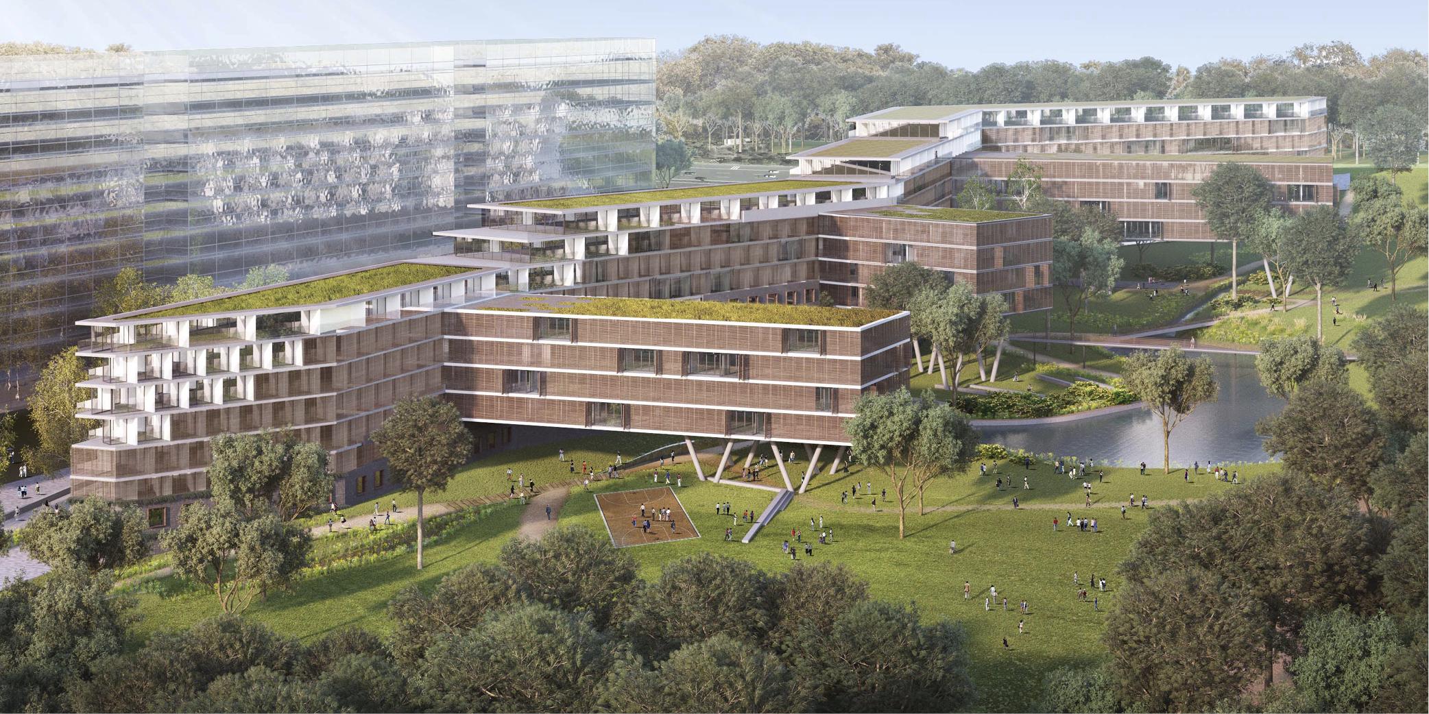 OCA architects Barcelona Prague House of Arboretum residential housing project Hernan Lleida Ruiz Bernardo Garcia Morales7