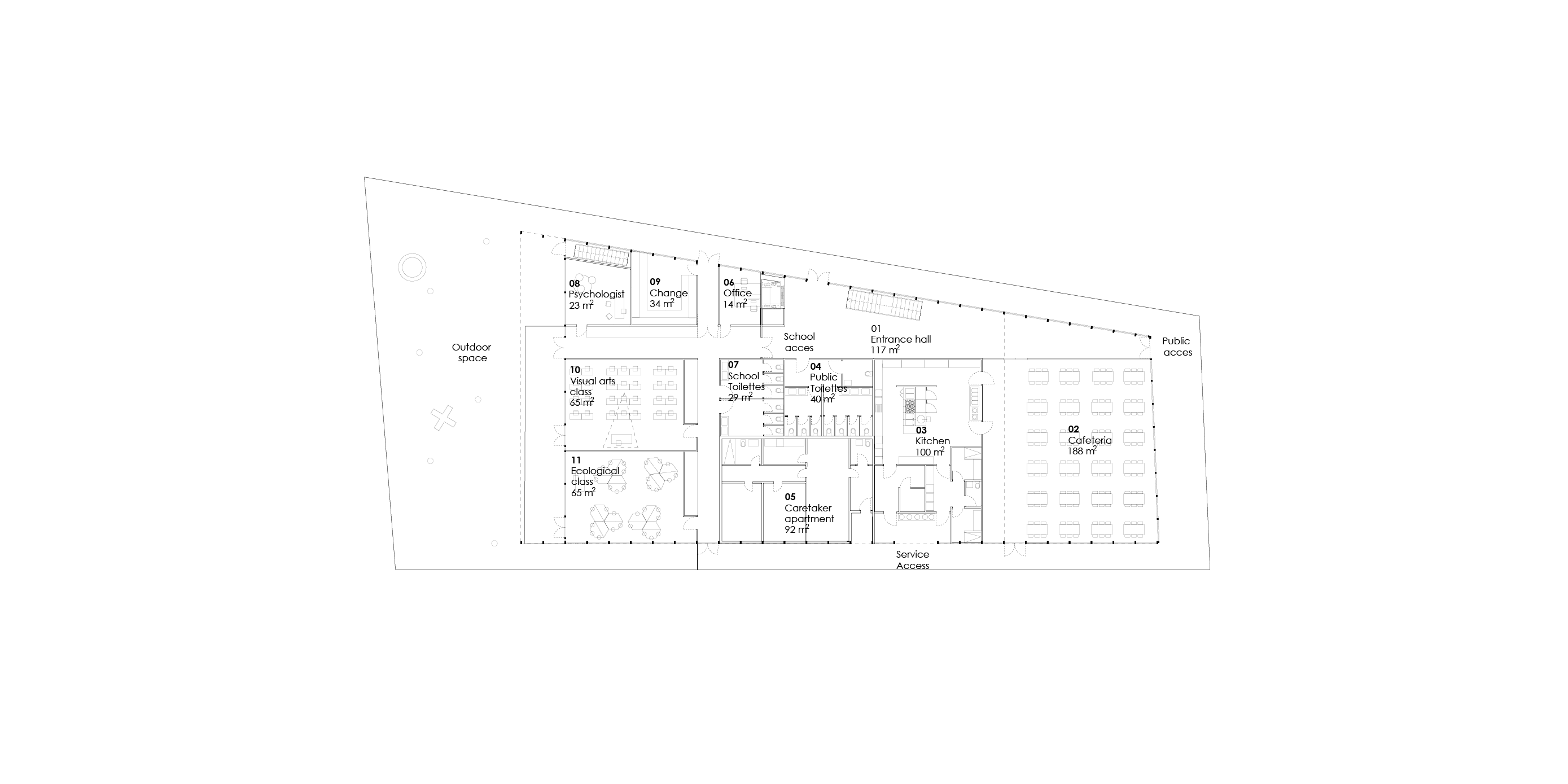New building ground floor plan
