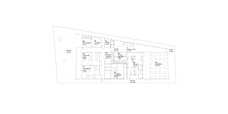 New building ground floor plan