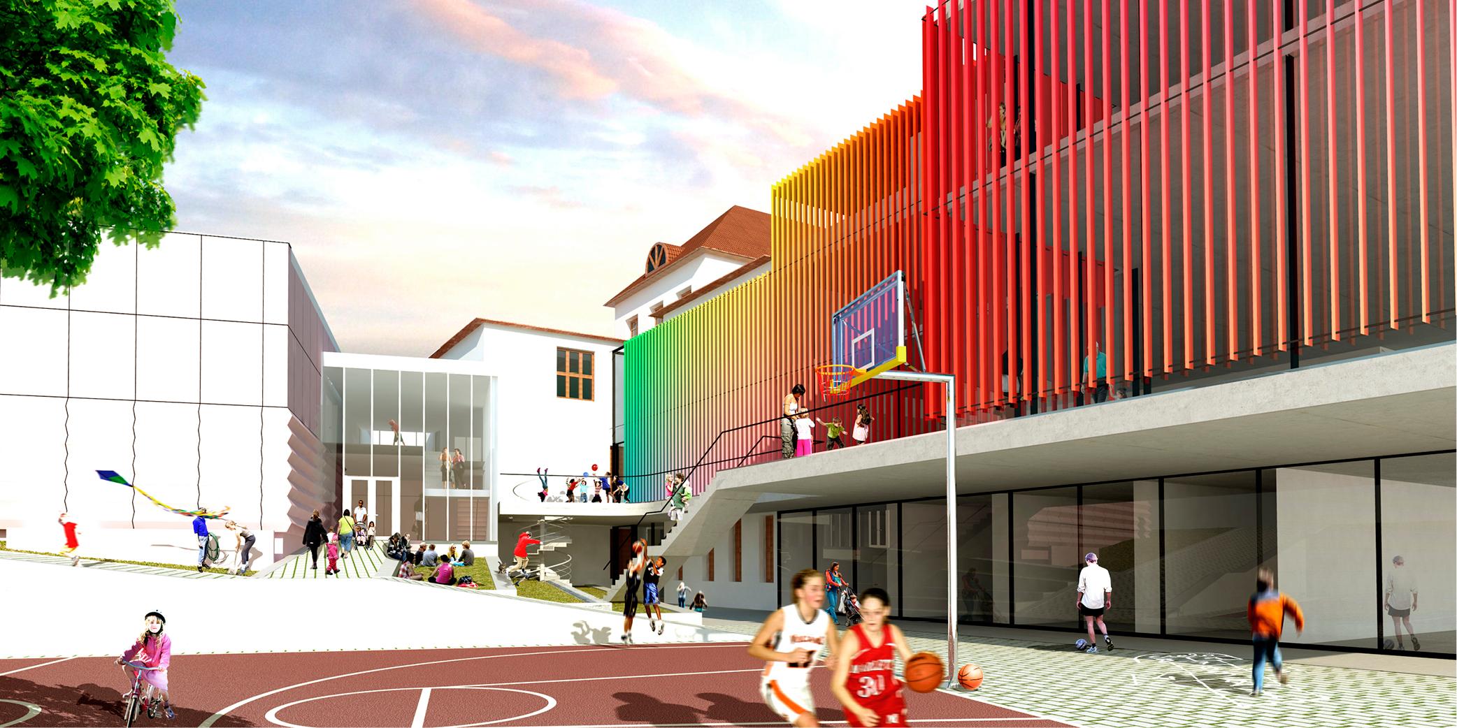 OCA architects Barcelona Trojska school Prague Hernan Lleida Ruiz Bernardo Garcia Morales82