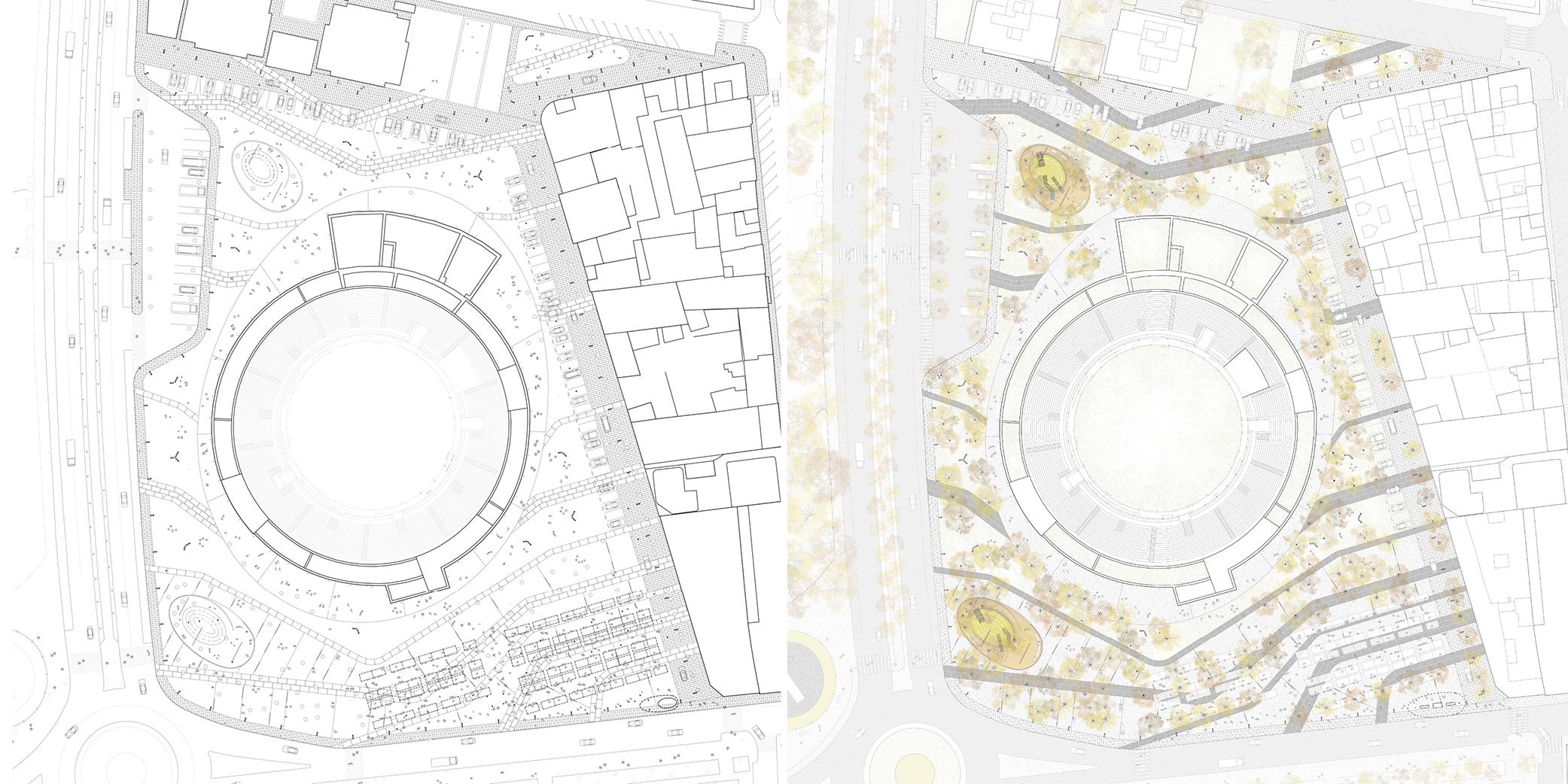 OCA architects concurso arquitectura urbanizacion entorno plaza de toros de Alcazar de San Juan Hernan Lleida Ruiz Bernardo Garcia Morales Oscar Berbel12