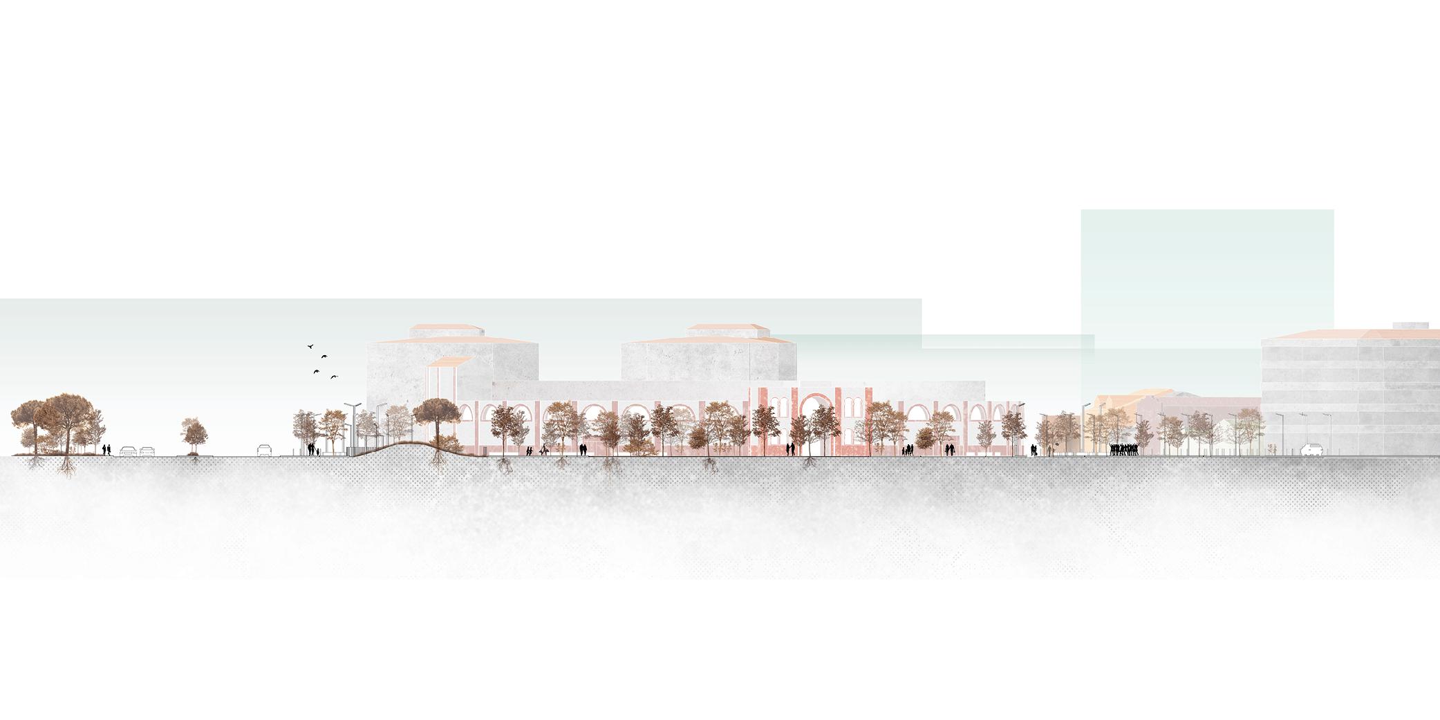 OCA architects concurso arquitectura urbanizacion entorno plaza de toros de Alcazar de San Juan Hernan Lleida Ruiz Bernardo Garcia Morales Oscar Berbel16
