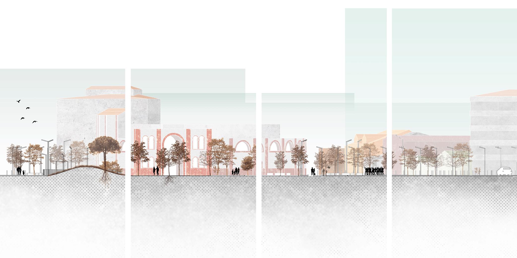 OCA architects concurso arquitectura urbanizacion entorno plaza de toros de Alcazar de San Juan Hernan Lleida Ruiz Bernardo Garcia Morales Oscar Berbel17
