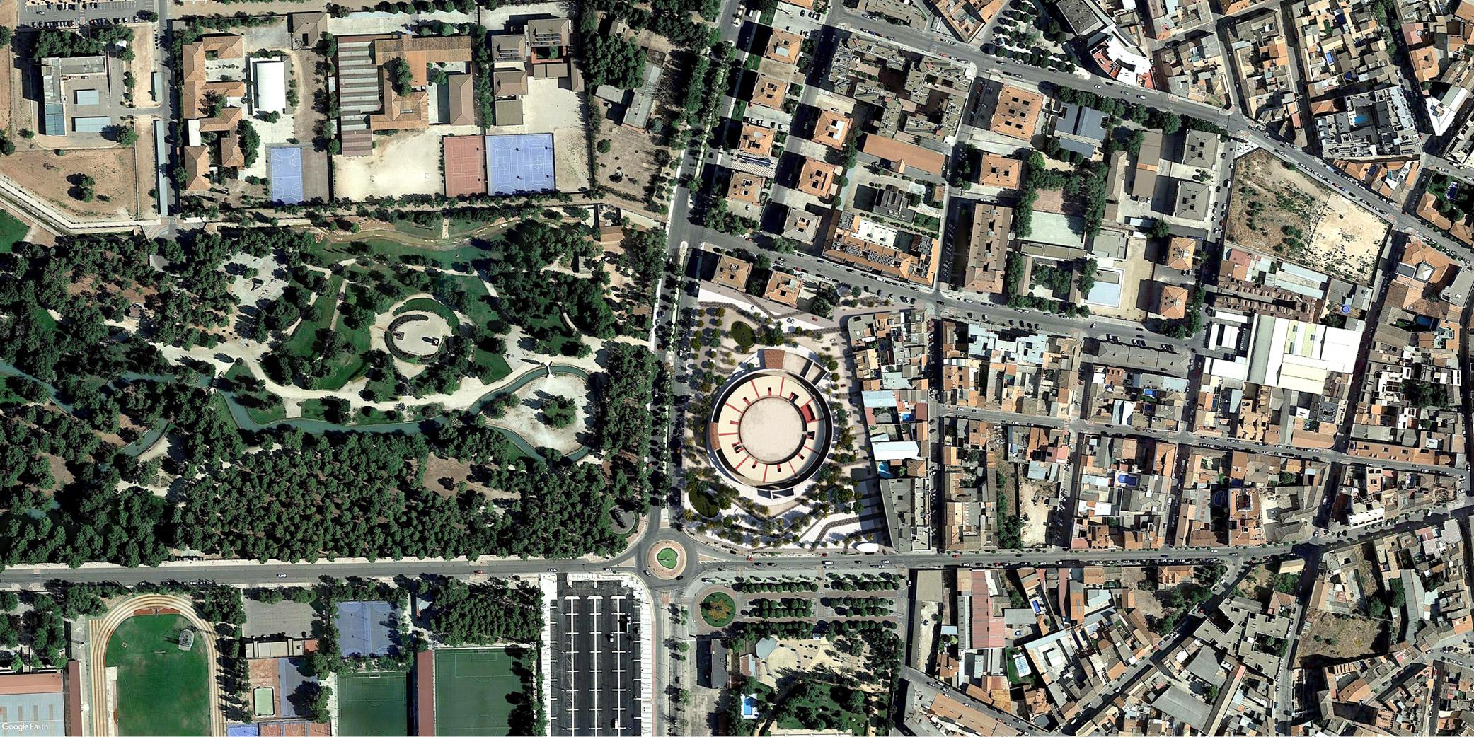 OCA architects concurso arquitectura urbanizacion entorno plaza de toros de Alcazar de San Juan Hernan Lleida Ruiz Bernardo Garcia Morales Oscar Berbel3