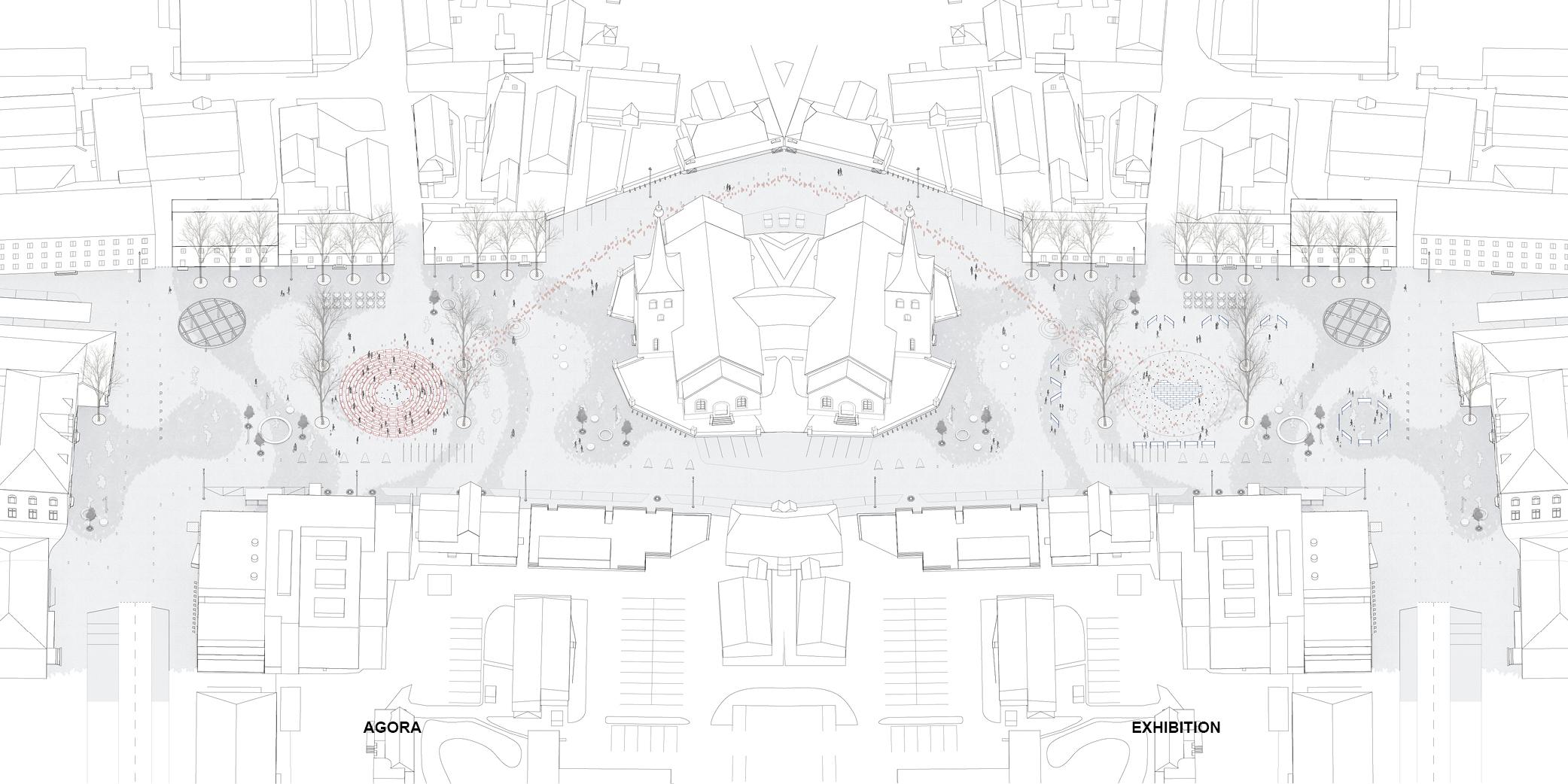 OCA architects urban architecture competition Paide Central Paide keskvaljaku arhitektuurivoistluse Hernan Lleida Ruiz Bernardo Garcia Morales Linn Nagel_web15