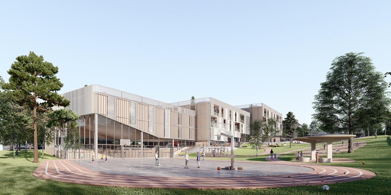 OCA architects New Elementary School and Kindergarten for - Nová ZŠ a MŠ pro - Dolní Měcholupy Hernan Lleida Ruiz Bernardo Garcia Morales