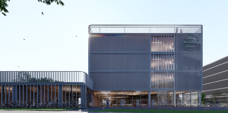 OCA architects New Elementary School and Kindergarten for - Nová ZŠ a MŠ pro - Dolní Měcholupy Hernan Lleida Ruiz Bernardo Garcia Morales4
