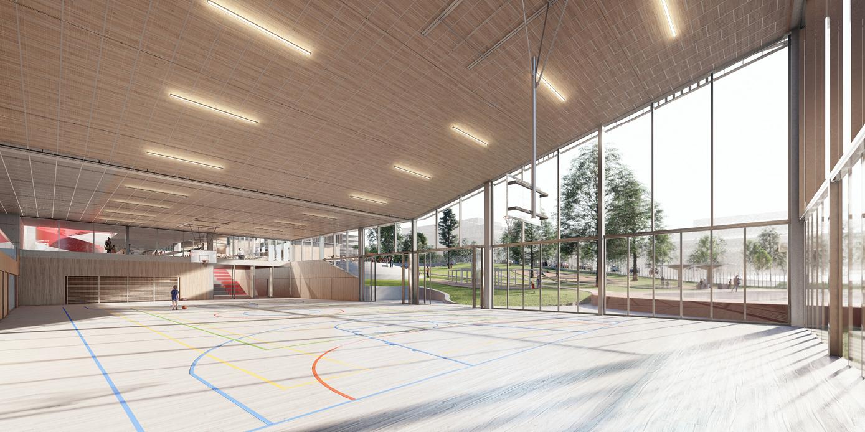 OCA architects New Elementary School and Kindergarten for - Nová ZŠ a MŠ pro - Dolní Měcholupy Hernan Lleida Ruiz Bernardo Garcia Morales7