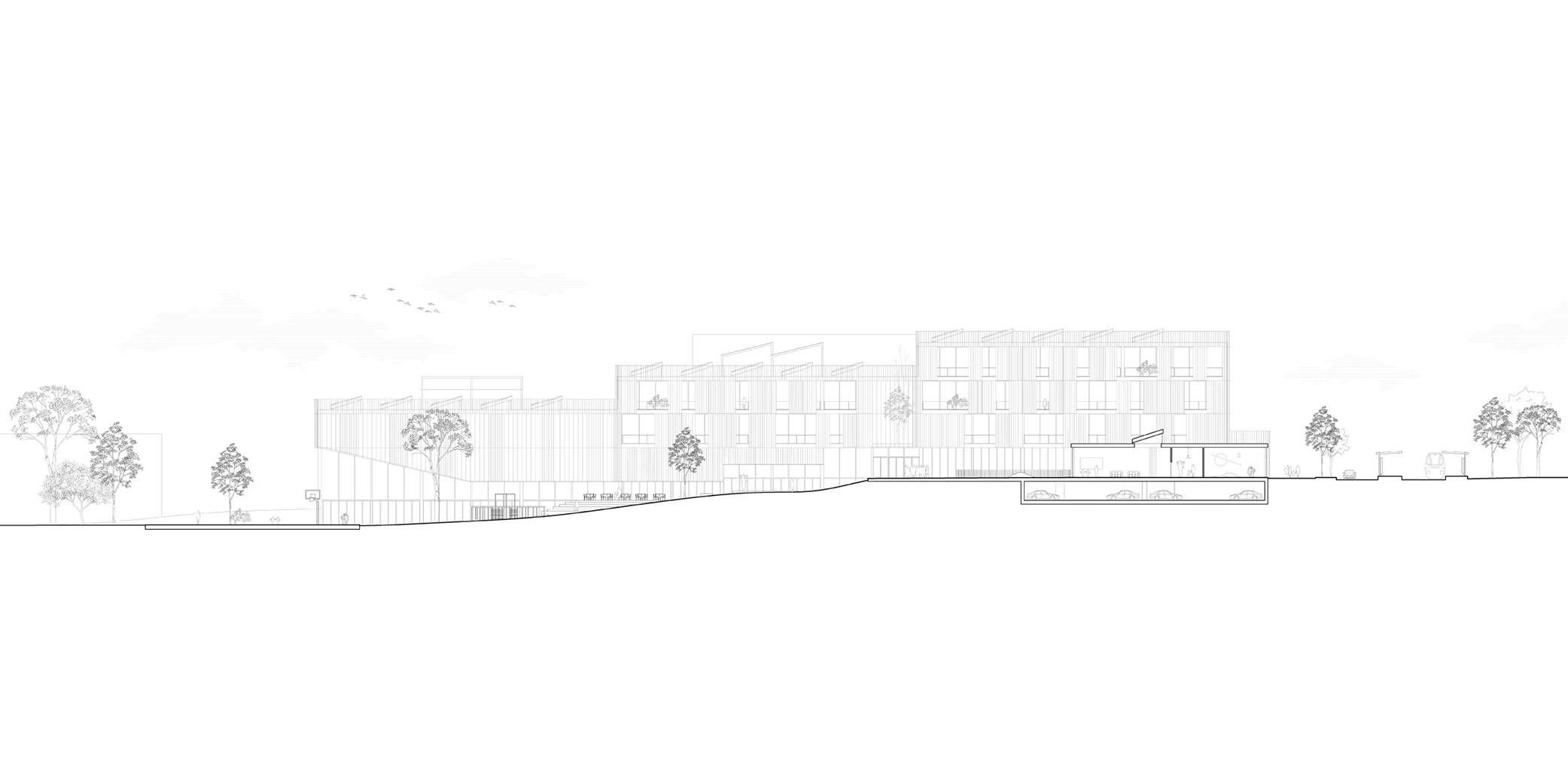 OCA architects New Elementary School and Kindergarten for - Nová ZS a MS pro - Dolní Měcholupy Hernan Lleida Ruiz Bernardo Garcia Morales21
