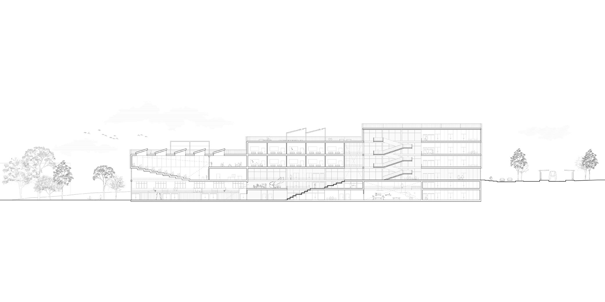 OCA architects New Elementary School and Kindergarten for - Nová ZS a MS pro - Dolní Měcholupy Hernan Lleida Ruiz Bernardo Garcia Morales22