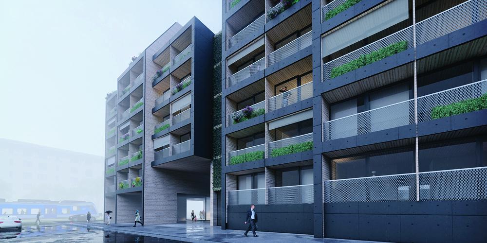 OCA architects Terradas Arquitectos Smitka Arkitekti competition Penta Residence Vysocany Hernan Lleida Bernardo Garcia6