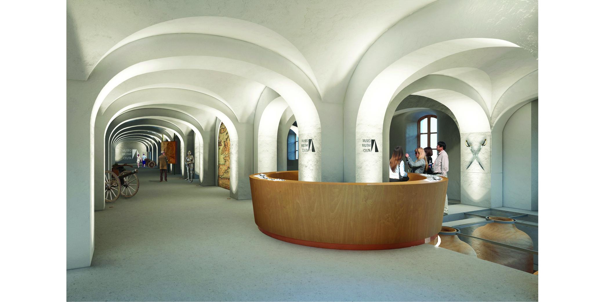 OCA architects Terradas arquitectos concurso museo militar archivo ceuta Hernan Lleida Ruiz Bernardo Garcia Morales Oscar Berbel5