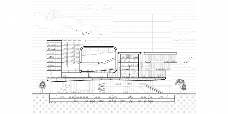 OCA architects competition Banja Luka Congress Centre Multifunctional Hall 2020 Bosnia Herzegovina Hernan Lleida Bernardo Garcia24