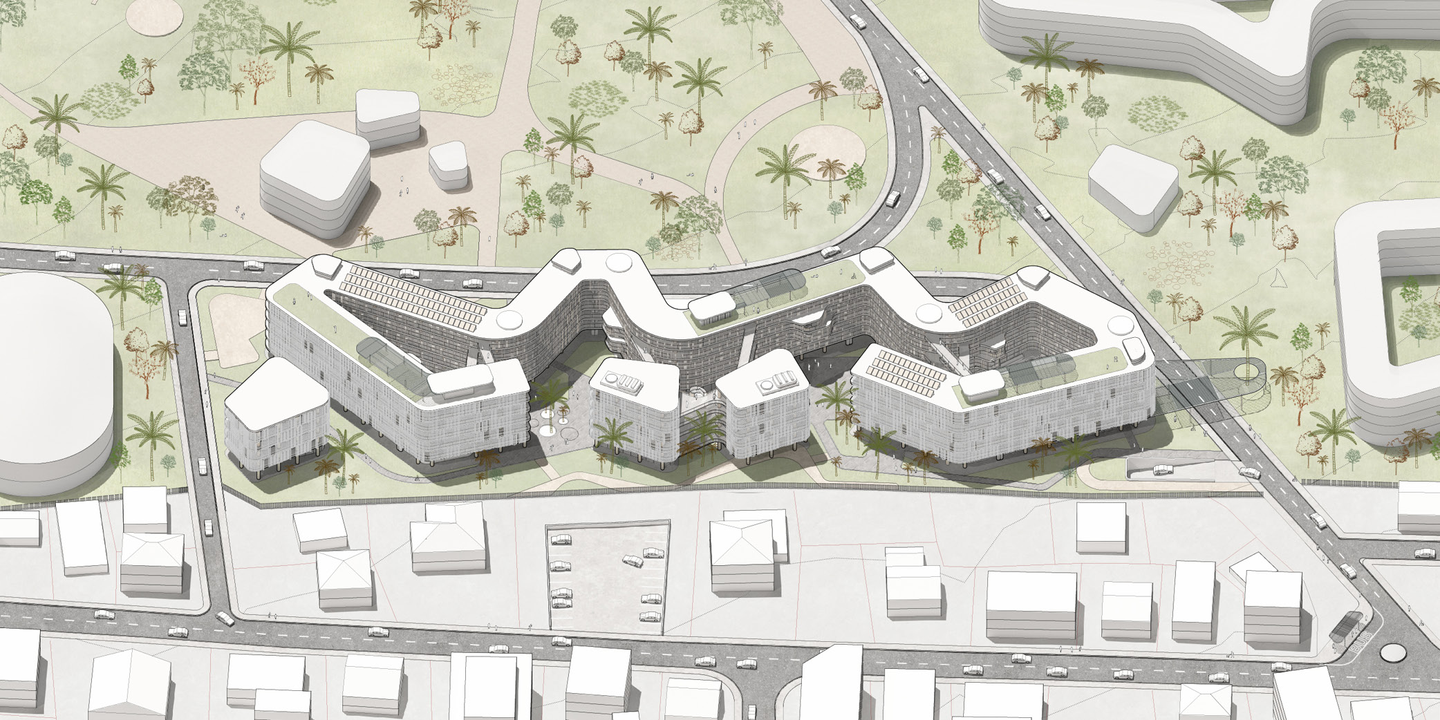 OCA architects Dormitories of the Cyprus University of Technology in Limassol - Κοιτώνες Κύπρος Λεμεσός Hernan Lleida Ruiz Bernardo Garcia Morales13