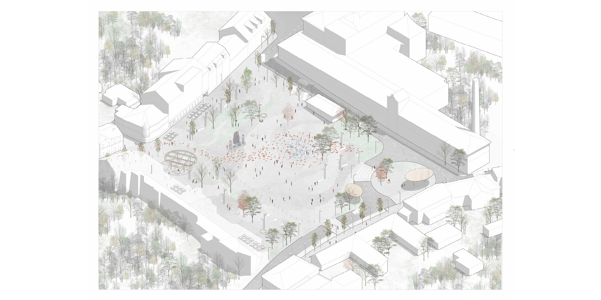 OCA architects Zbraslav square architecture competition Hernan Lleida Ruiz Bernardo Garcia Morales