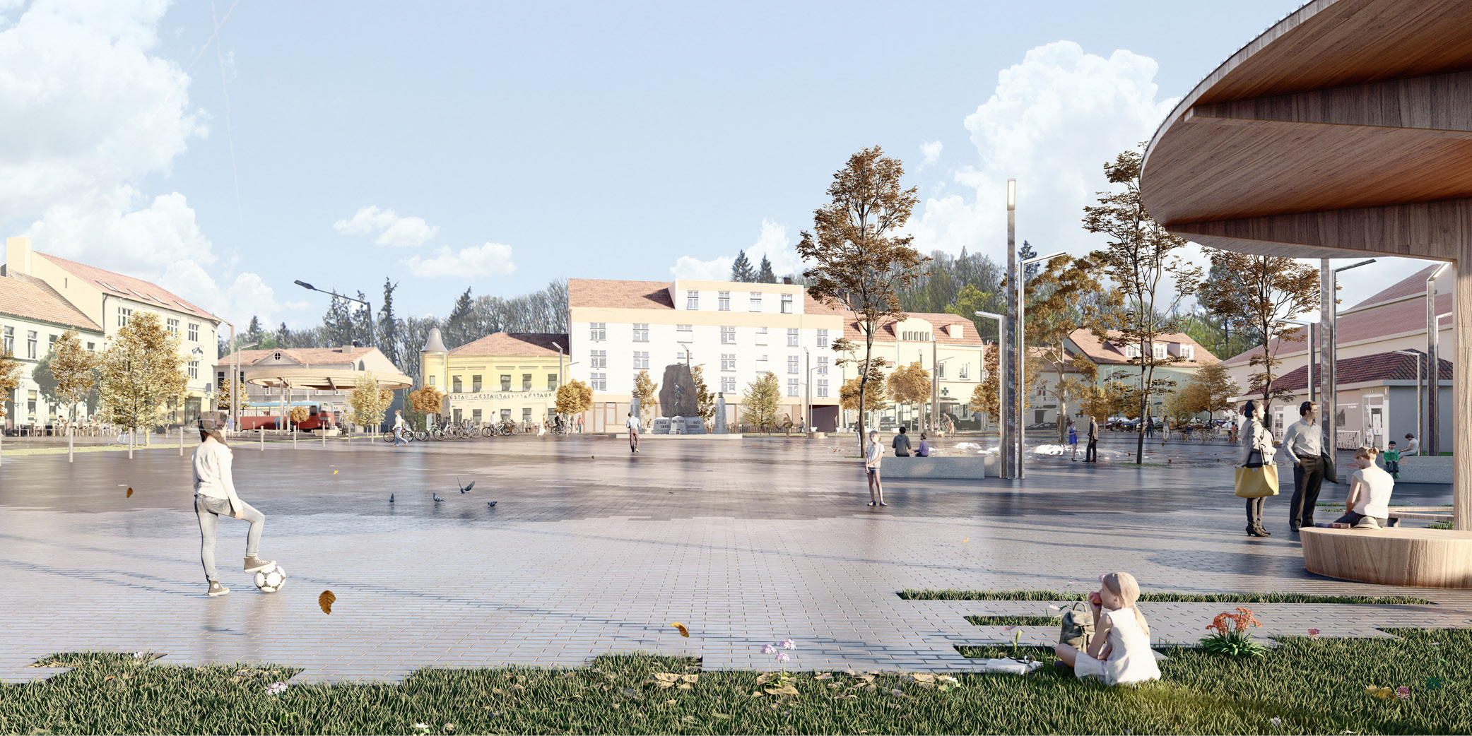OCA architects Zbraslav square architecture competition Hernan Lleida Ruiz Bernardo Garcia Morales10