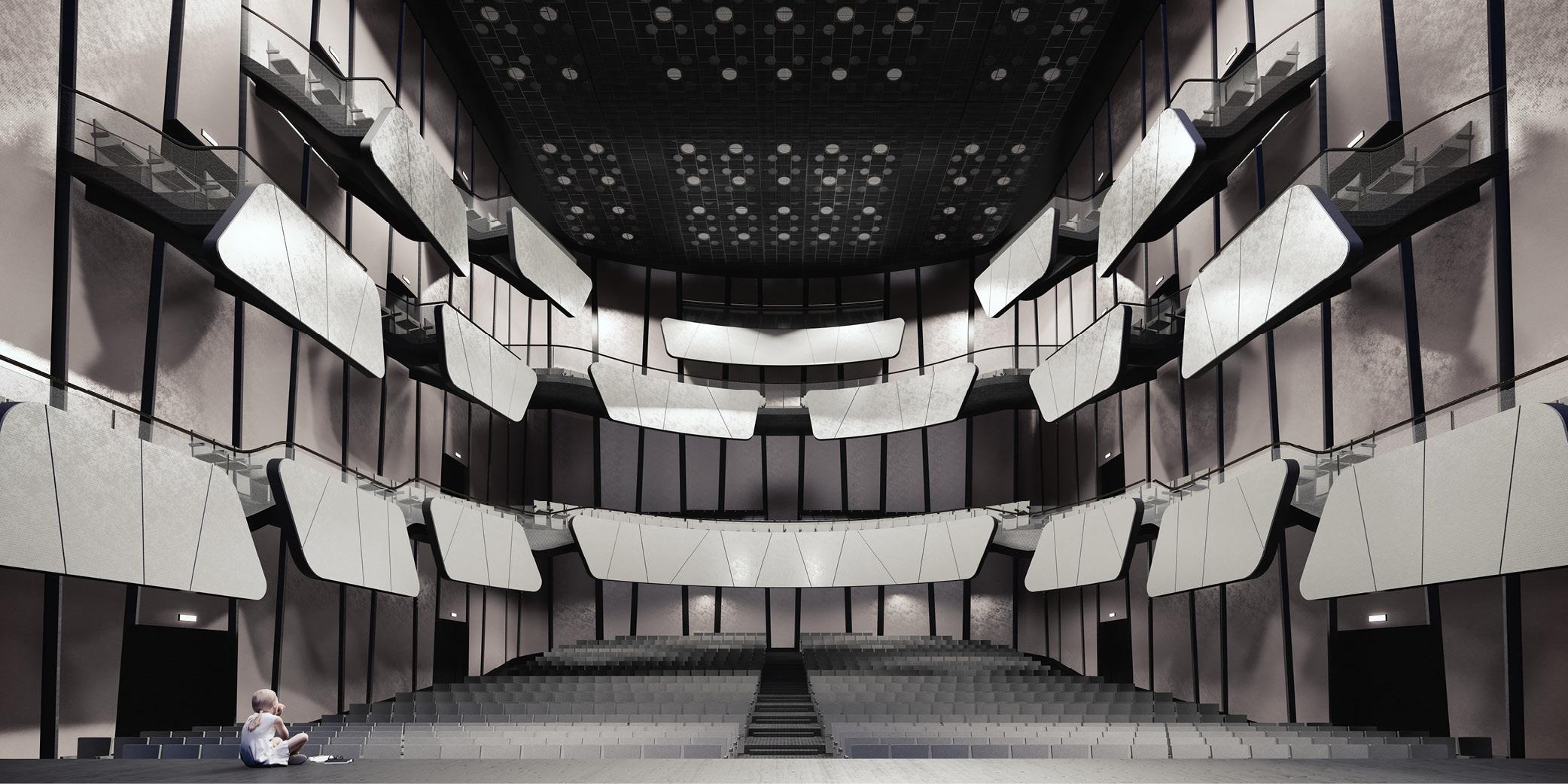 OCA architects Arquitectos Barcelona competition Banja Luka Congress Centre Multifunctional Hall 2020 Bosnia Herzegovina Hernan Lleida Bernardo Garcia11