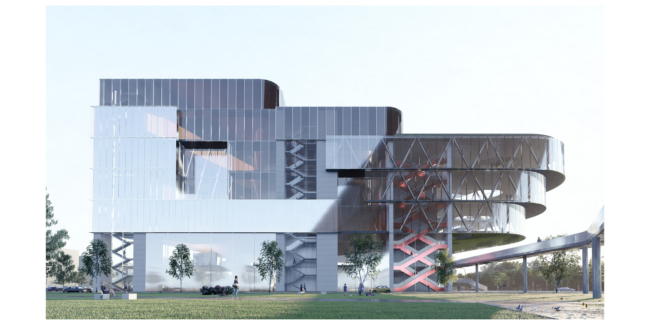 OCA architects Arquitectos Barcelona competition Banja Luka Congress Centre Multifunctional Hall 2020 Bosnia Herzegovina Hernan Lleida Bernardo Garcia5