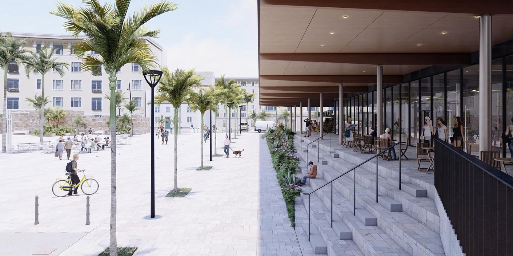 OCA architects TERRADAS arquitectos Mercado Municipal Almuñecar concurso proyectos arquitectura Hernan Lleida Ruiz Bernardo Garcia Morales4