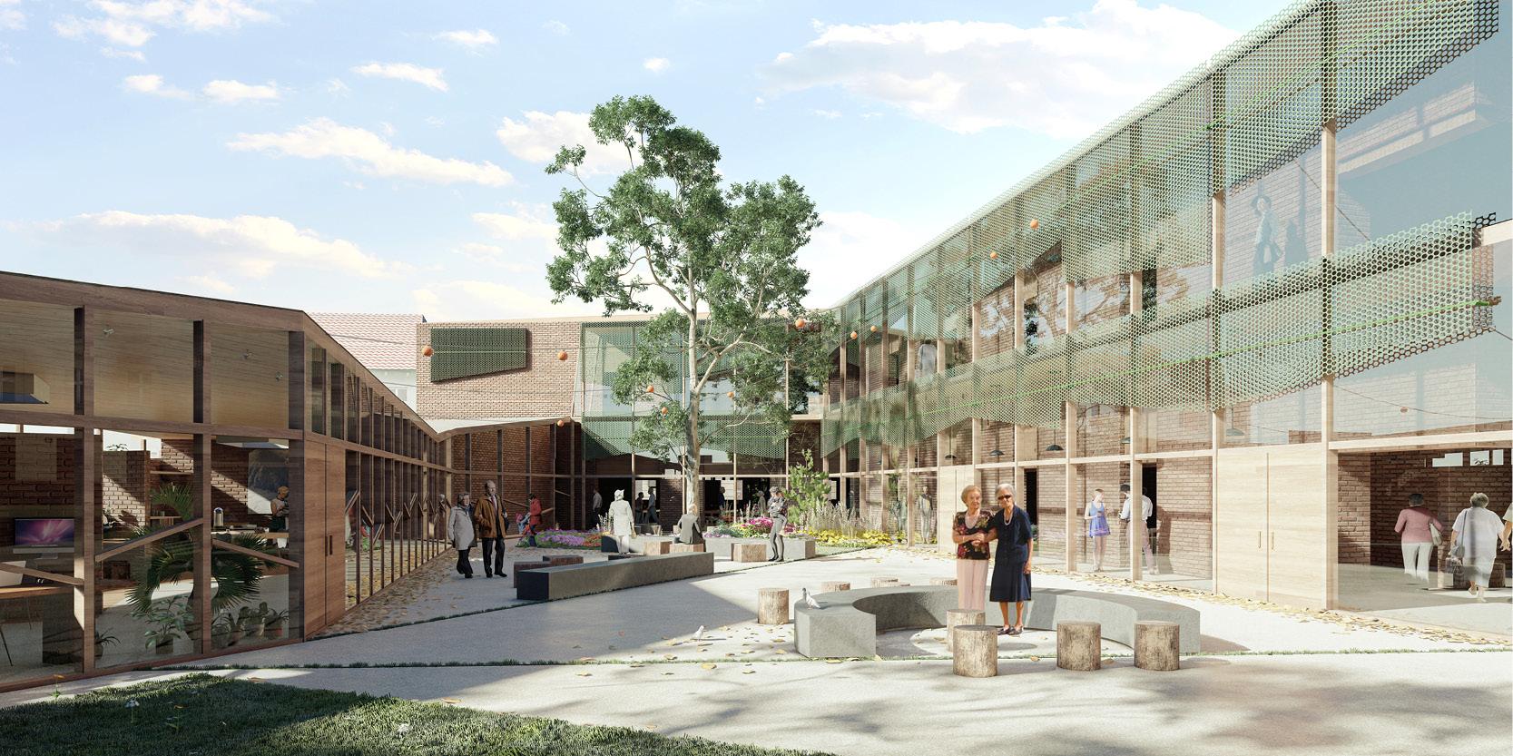 OCA architects arquitectos y DDA Centro de dia medicalizado para personas mayores en Paracuellos de Jarama Hernan Lleida Bernardo Garcia2