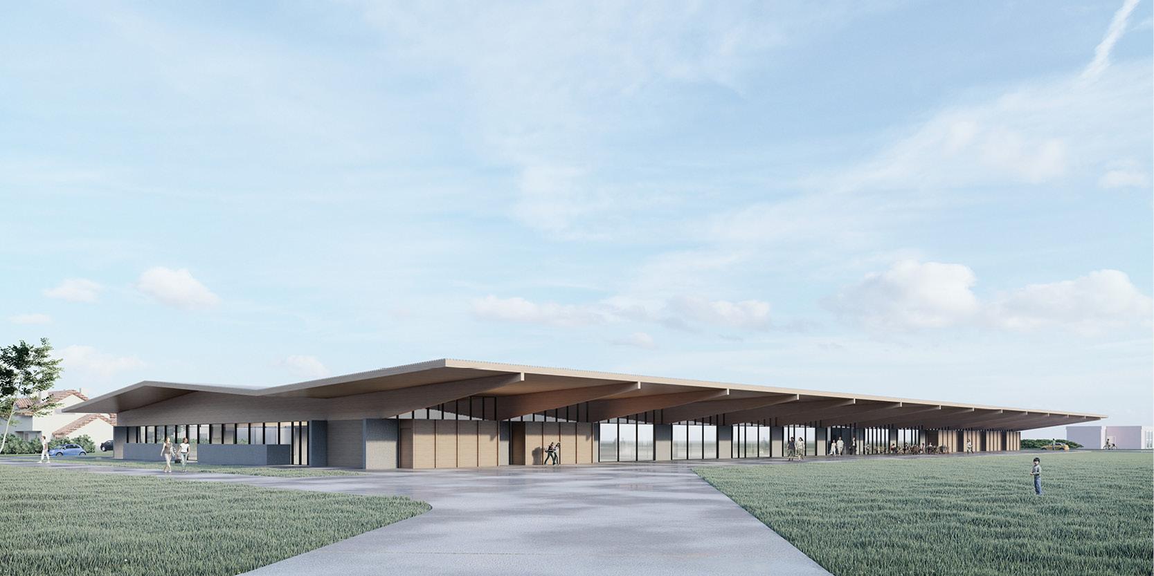 OCA architects arquitectos y Ilaria Egidi Concorso progettazione nuovo Centro Sportivo a Stabio Hernan Lleida Bernardo Garcia3