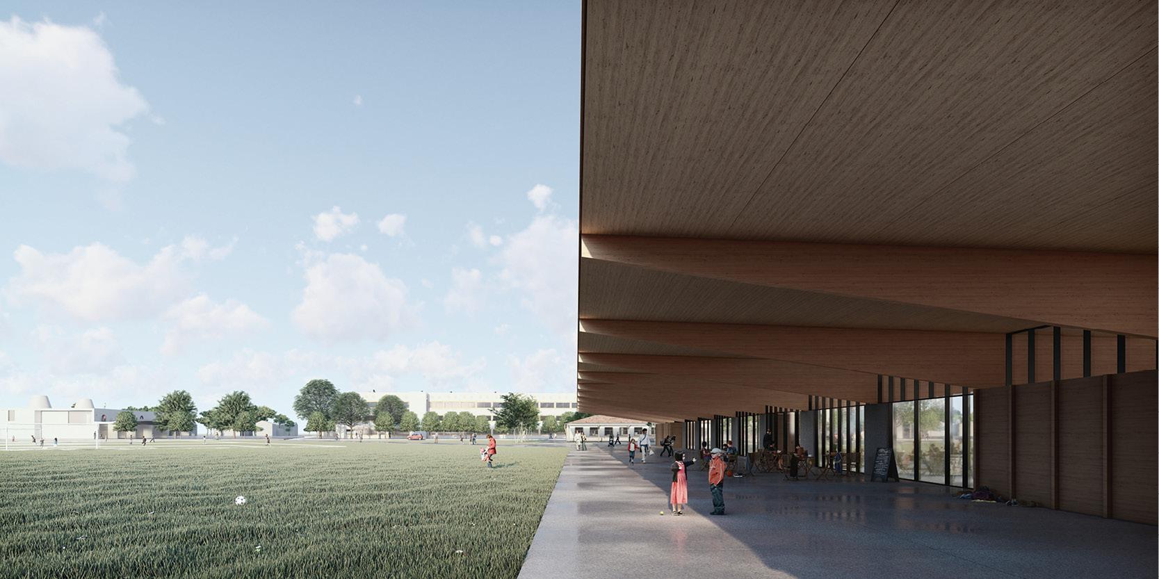 OCA architects arquitectos y Ilaria Egidi Concorso progettazione nuovo Centro Sportivo a Stabio Hernan Lleida Bernardo Garcia4