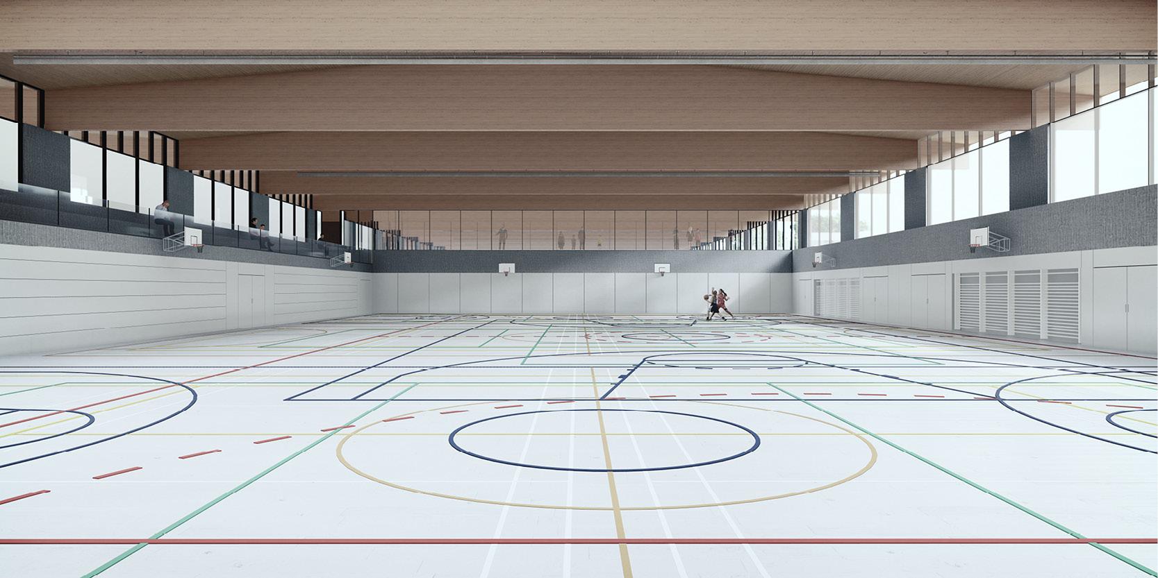 OCA architects arquitectos y Ilaria Egidi Concorso progettazione nuovo Centro Sportivo a Stabio Hernan Lleida Bernardo Garcia5