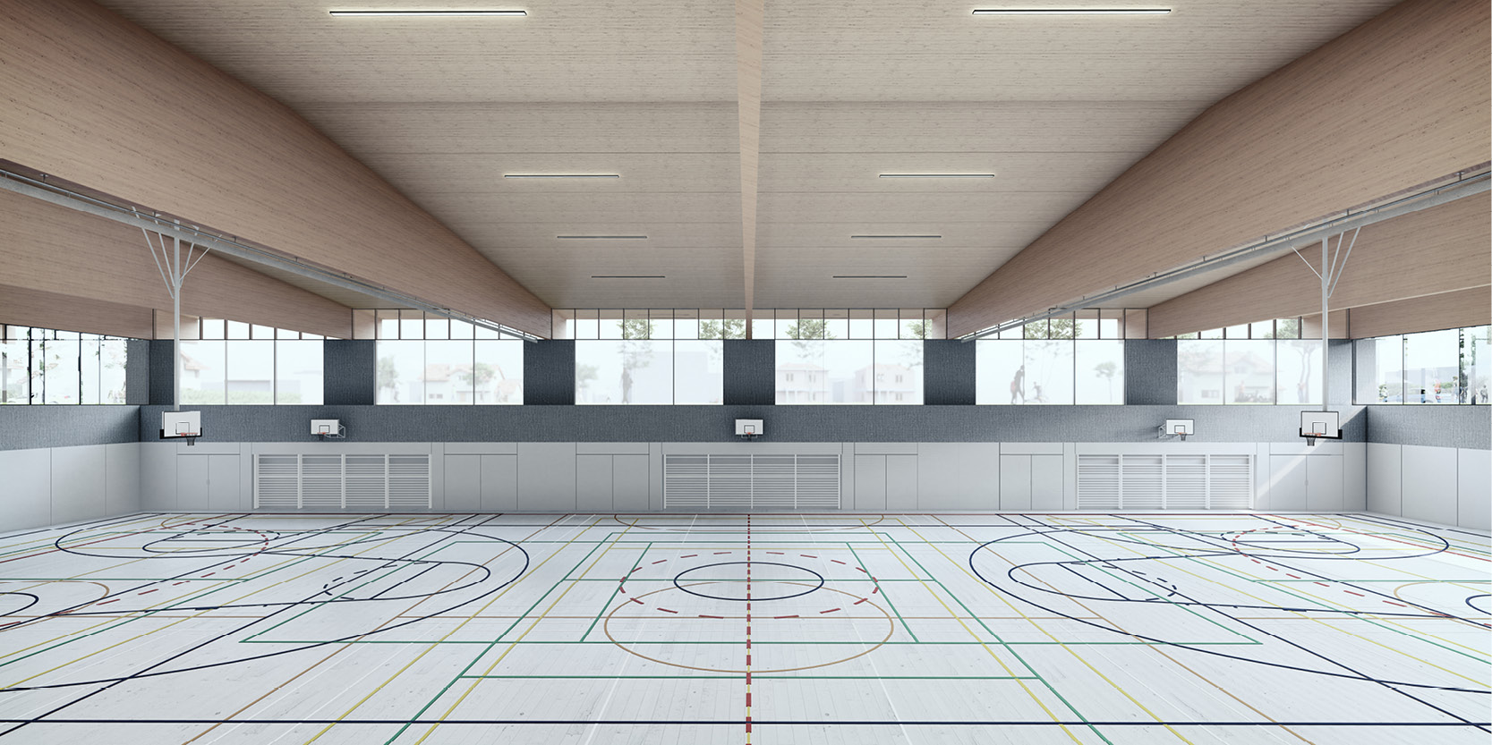 OCA architects arquitectos y Ilaria Egidi Concorso progettazione nuovo Centro Sportivo a Stabio Hernan Lleida Bernardo Garcia6