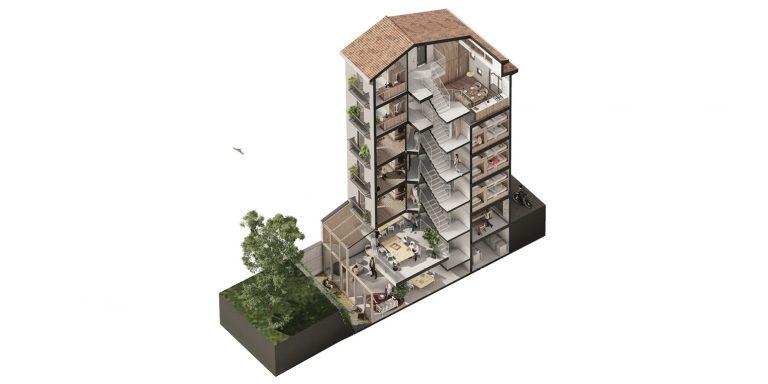 Albergue peregrinos Santander OCA ARCHITECTS OCA ARQUITECTES OCA ARQUITECTOS Hostel design architecture Hernan Lleida Bernardo Garcia4