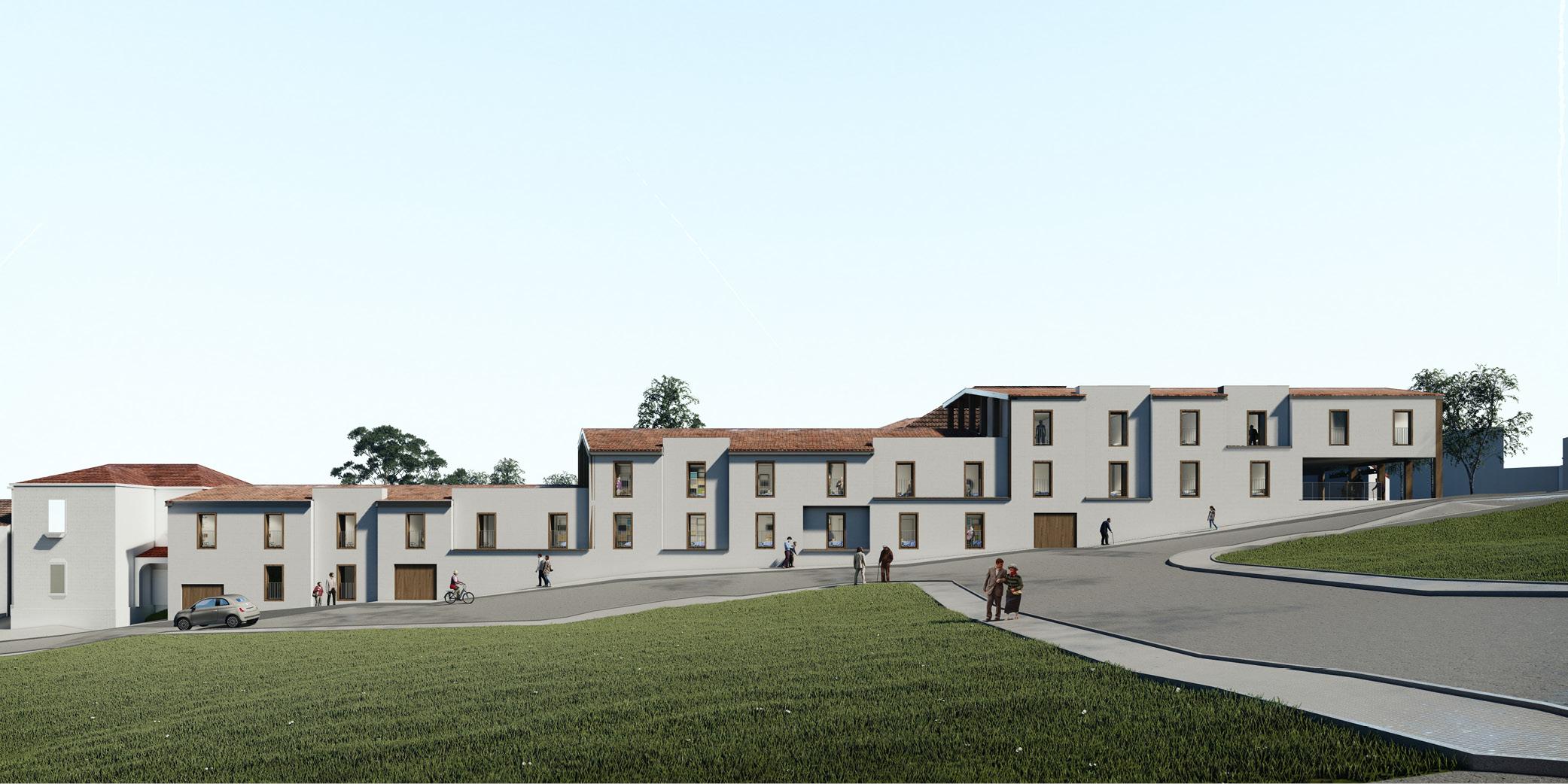 Centro de dia y centro resedencial Caballeros OCA ARCHITECTS OCA arquitectos architecture design Hernan Lleida Bernardo Garcia 1