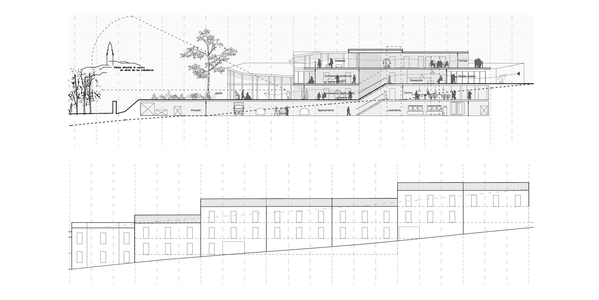 Centro de dia y centro resedencial Caballeros OCA ARCHITECTS OCA arquitectos architecture design Hernan Lleida Bernardo Garcia 11