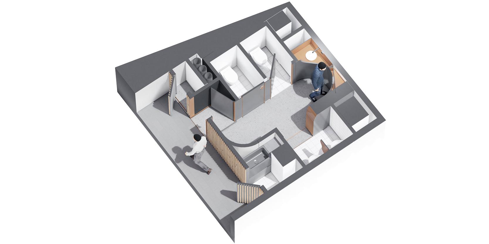 Reforma lavabos estadistica IDESCAT OCA Architects Arquitectura architecture interior design disseny interior Hernan Lleida Bernardo Garcia5