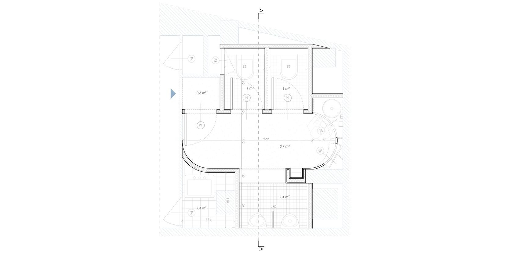 Reforma lavabos estadistica IDESCAT OCA Architects Arquitectura architecture interior design disseny interior Hernan Lleida Bernardo Garcia6