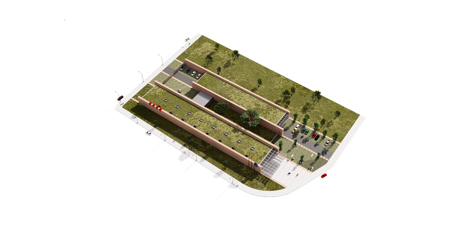 Concurs per comissaria d'Àrea Bàsica policial a Mollerussa OCA ARCHITECTS OCA Arquitectos Architecture police design Hernan Lleida Bernardo Garcia