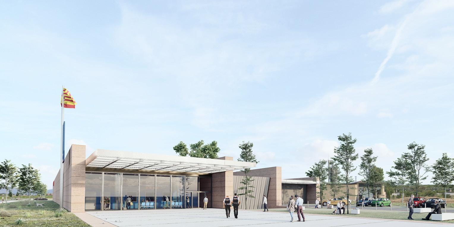 Concurs per comissaria d'Àrea Bàsica policial a Mollerussa OCA ARCHITECTS OCA Arquitectos Architecture police design Hernan Lleida Bernardo Garcia3