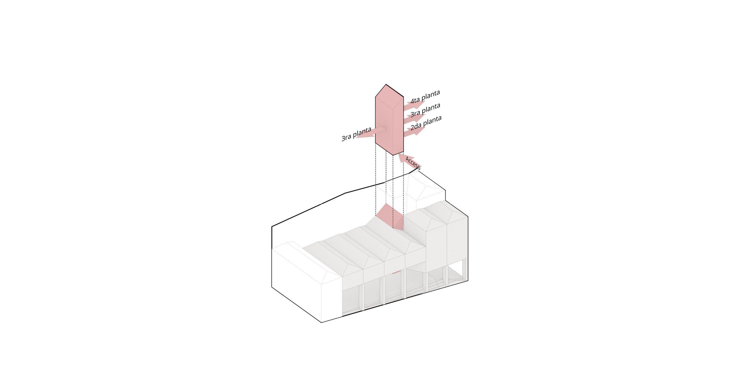 Un único núcleo vertical para todo el conjunto