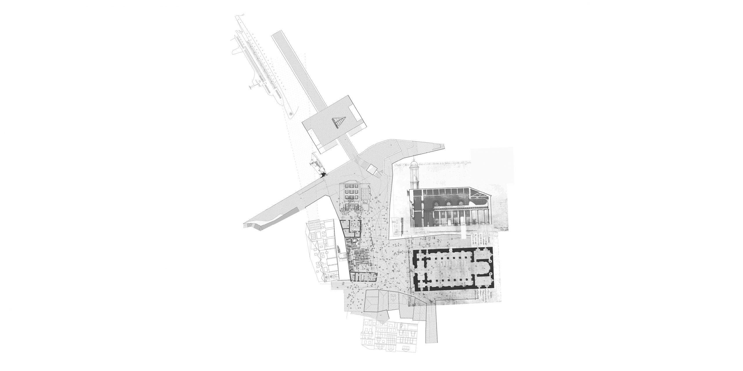 La planta baja amplía el espacio público, creando una nueva espacio urbano cubierto para la ciudad