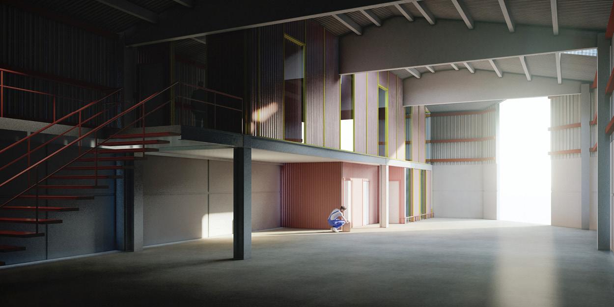 Nuevas oficinas brigada municipal de Binefar, Huesca OCA Architects Arquitectura architecture diseño interior industrial ingenieria Hernan Lleida Bernardo Garcia