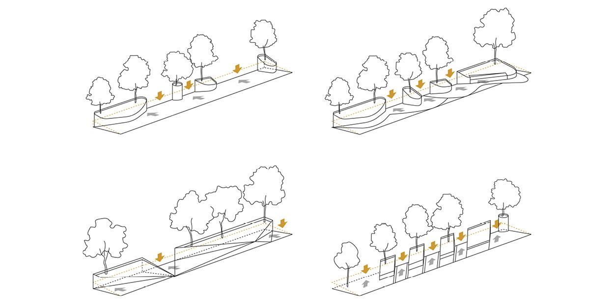 Propostes pels parterres de la Rambla Nova de Mollet del Valles, Barcelona OCA Architects Arquitectura architecture Hernan Lleida Bernardo Garcia10