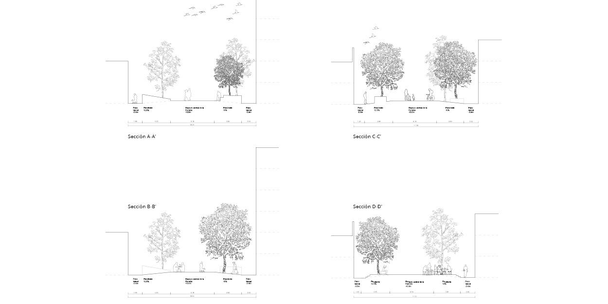Propostes pels parterres de la Rambla Nova de Mollet del Valles, Barcelona OCA Architects Arquitectura architecture Hernan Lleida Bernardo Garcia12