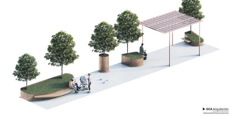 Propostes pels parterres de la Rambla Nova de Mollet del Valles, Barcelona OCA Architects Arquitectura architecture Hernan Lleida Bernardo Garcia4