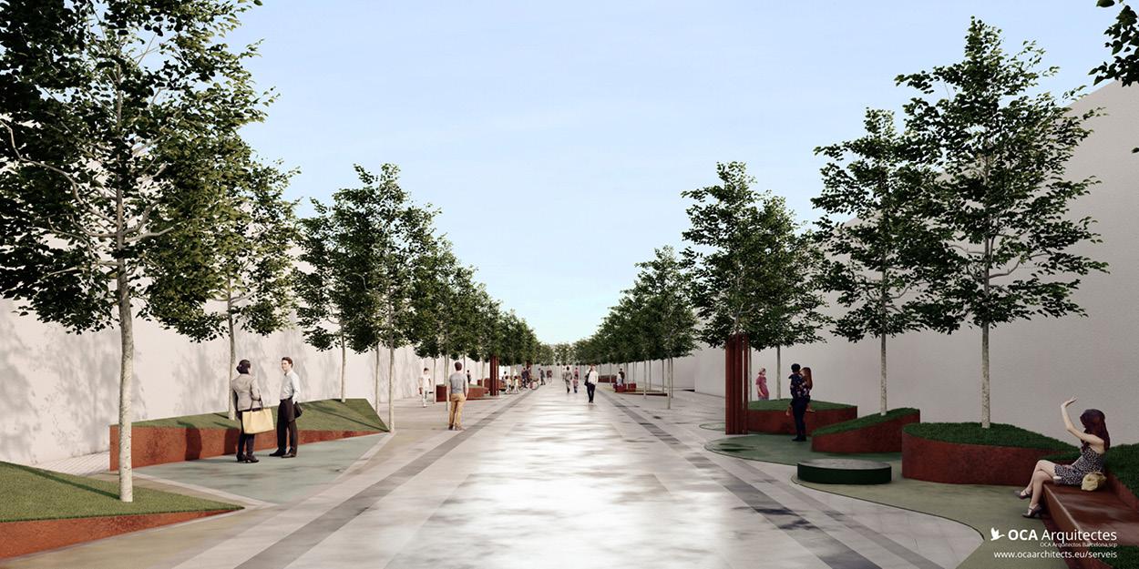 Propostes pels parterres de la Rambla Nova de Mollet del Valles, Barcelona OCA Architects Arquitectura architecture Hernan Lleida Bernardo Garcia5